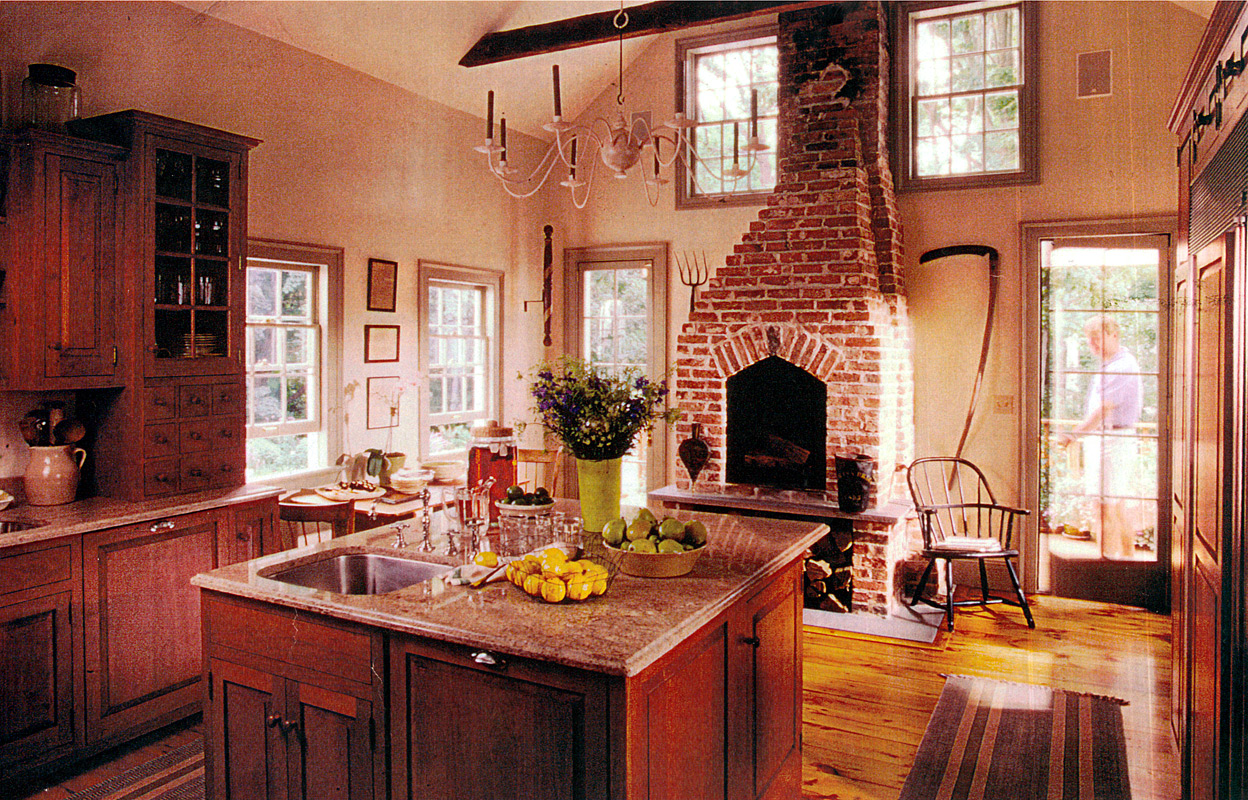 Federal period kitchen design federal period furniture for Period kitchen design